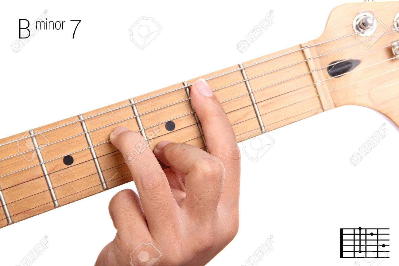 bm7 minor seventh keys guitar tutorial series closeup of hand