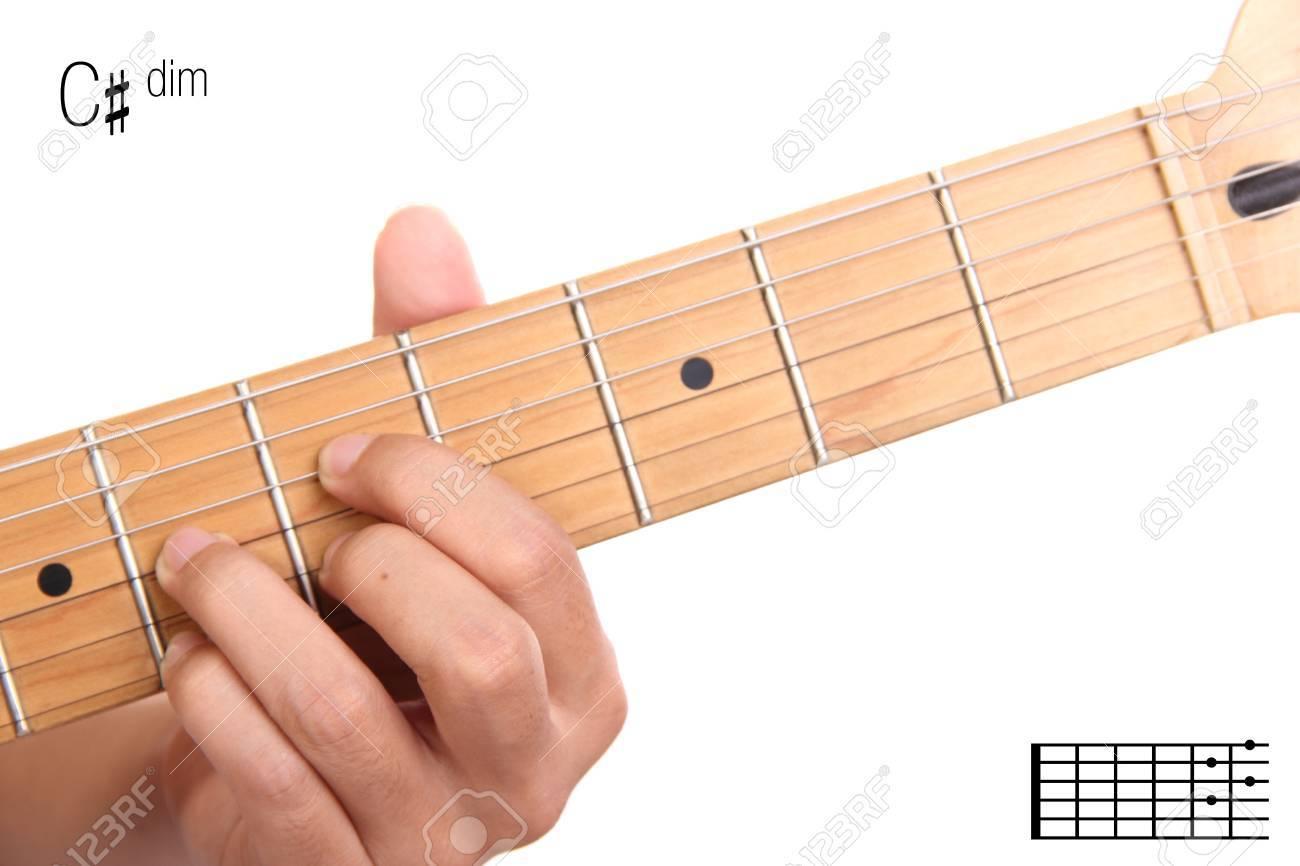 Cdim advanced guitar keys series closeup of hand playing cdim advanced guitar keys series closeup of hand playing c sharp diminished hexwebz Choice Image