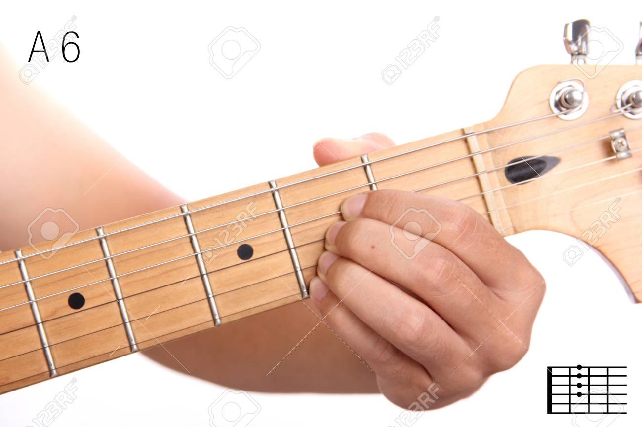 A6 Advanced Guitar Keys Series Closeup Of Hand Playing A Sixth