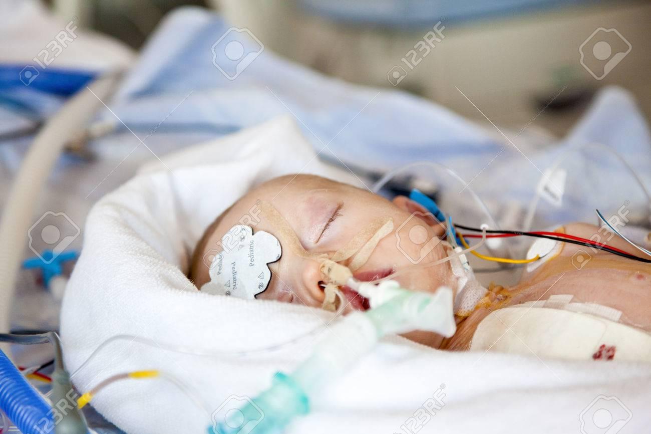 Respiratory care, child intensive care. Stock Photo - 58917776