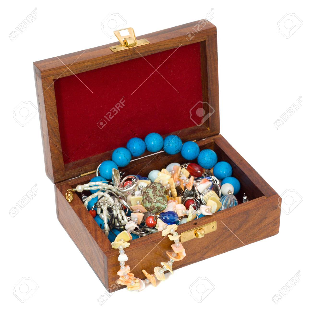 treasure chest, isolated on white Stock Photo - 2472591