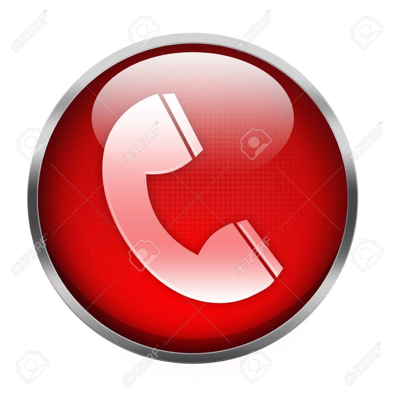 telephone icon isolated on white Stock Photo - 15856159