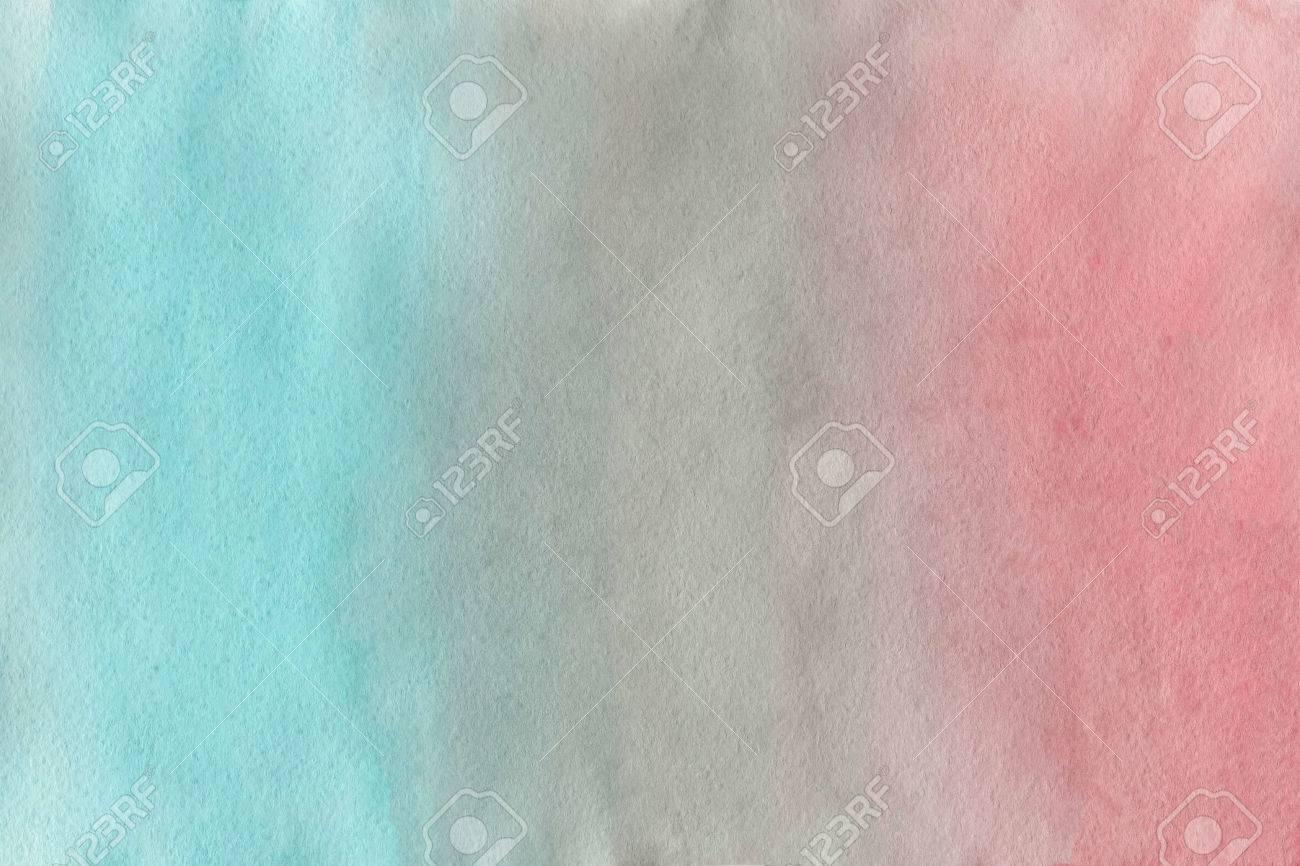 Résumé Main Aquarelle Peinte Fond Rose Gris Et Bleu Gradient