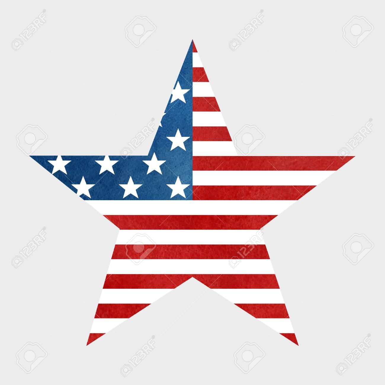 Le Drapeau Americain Imprimer En Forme D Etoile Symbole Banque D Images Et Photos Libres De Droits Image 59796339