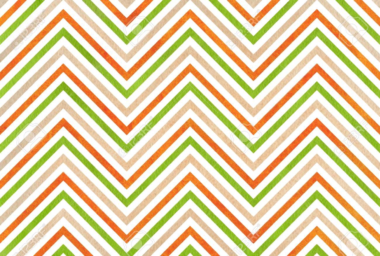 Immagini Stock Acquerello Sfondo Verde Arancio E Beige Sfondo
