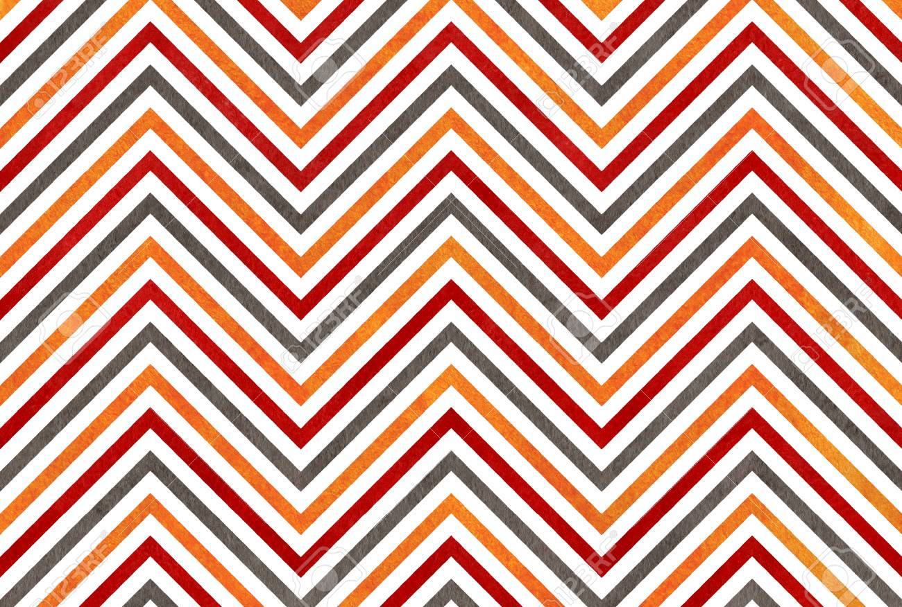 Watercolor Orange Dark Red And Grey Stripes Background Chevron