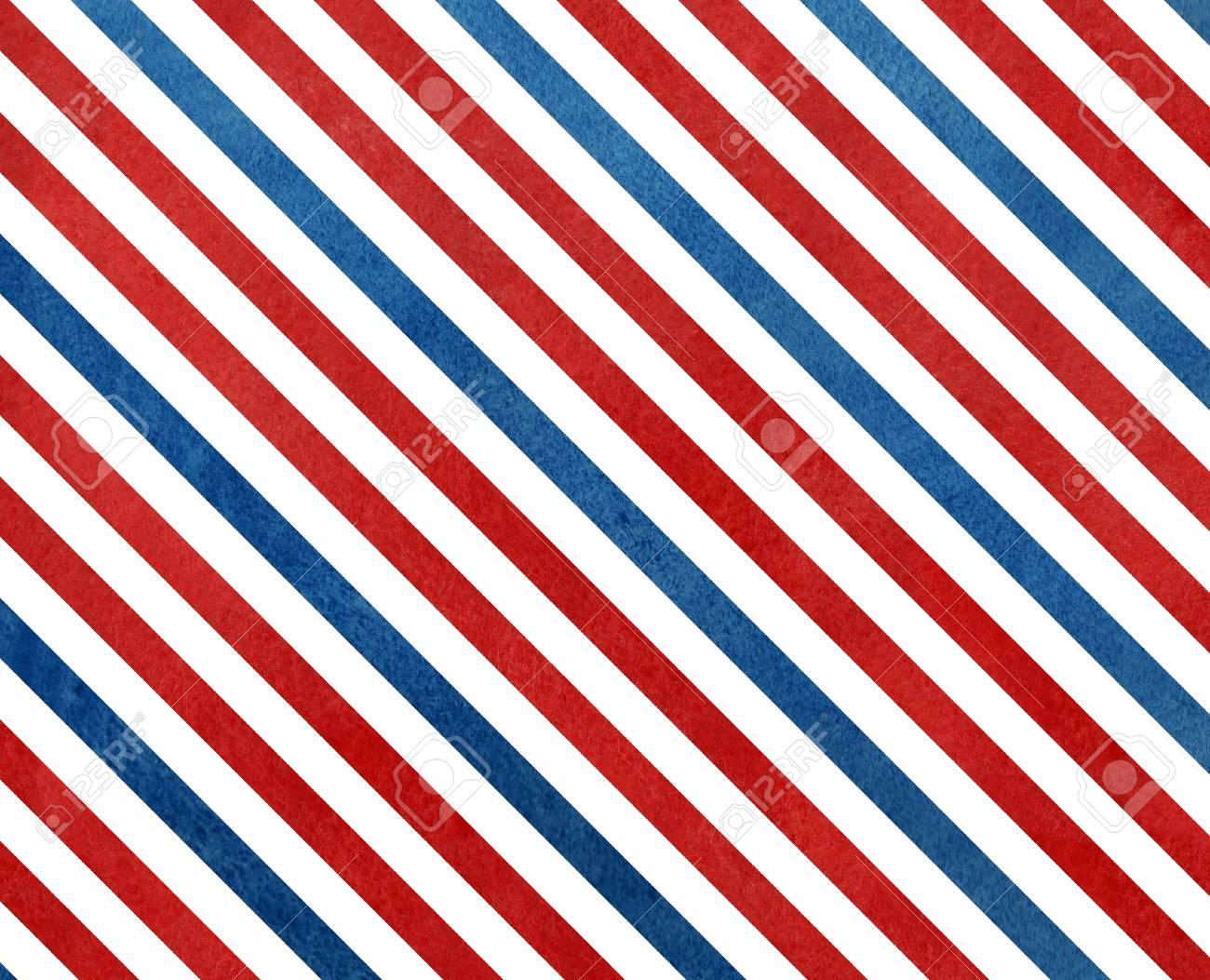 Immagini Stock Acquerello Blu Scuro E Rosso Sfondo A Strisce