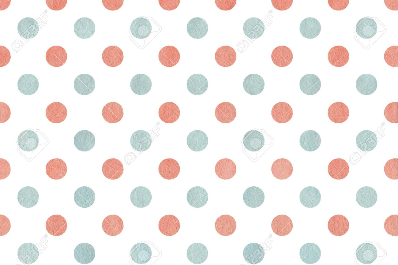 Watercolor Dots In Pink And Blue Color. Watercolor Pink And Blue ...