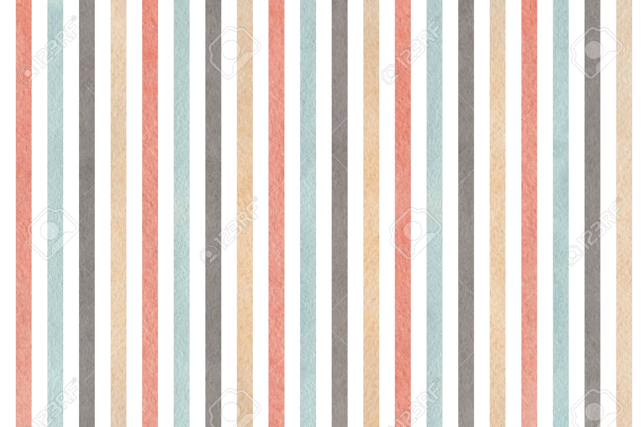 watercolor gray pink beige and blue striped background abstract
