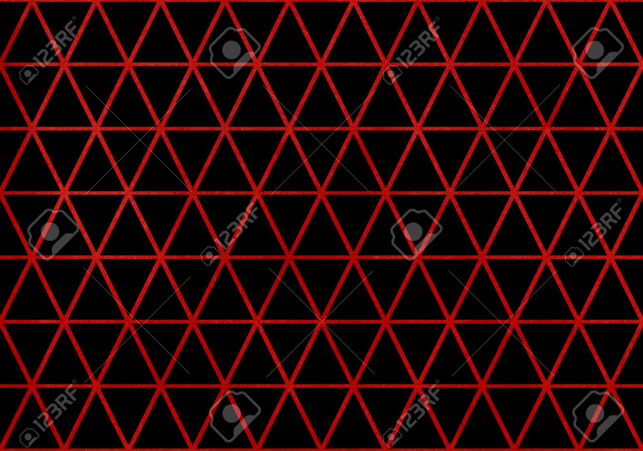 watercolor dark red triangle grid pattern on black background