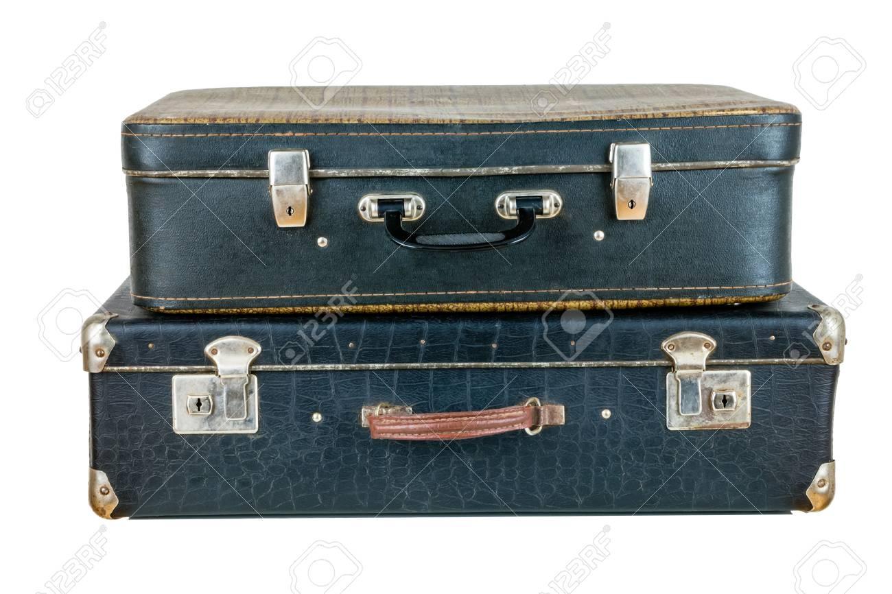 Onwijs Set Aus Alten Koffer. Schwarz Retro-Koffer. Vintage Gepäck SM-73