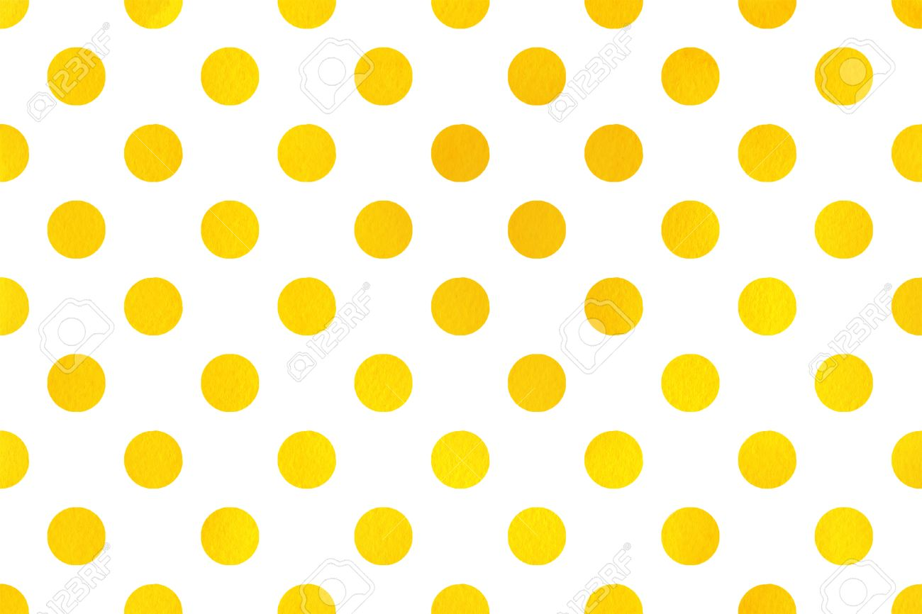 stock photo watercolor yellow polka dot background pattern with yellow polka dots for scrapbooks wedding party or baby shower invitations