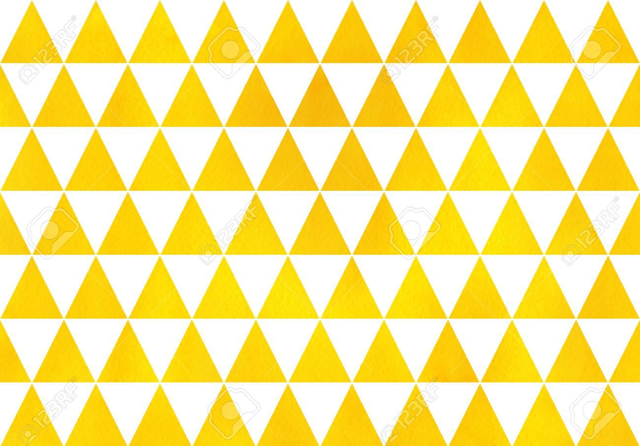 Watercolor yellow triangle pattern  Watercolor geometric pattern