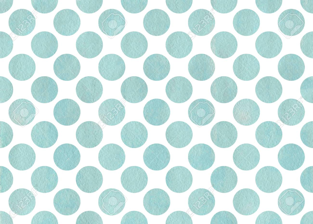 Watercolor Blue Polka Dot Background Pattern With Dots For