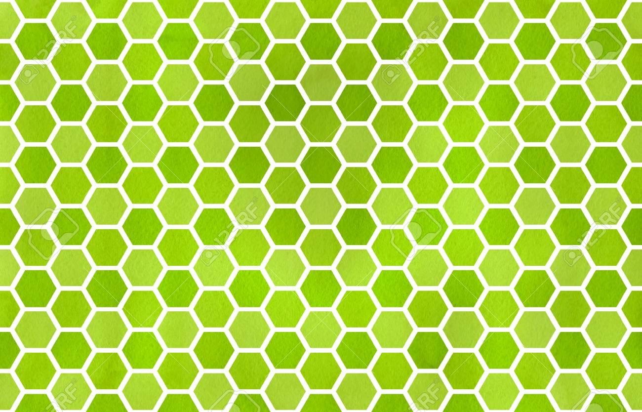stock photo watercolor lime green geometrical comb pattern hexagonal grid design