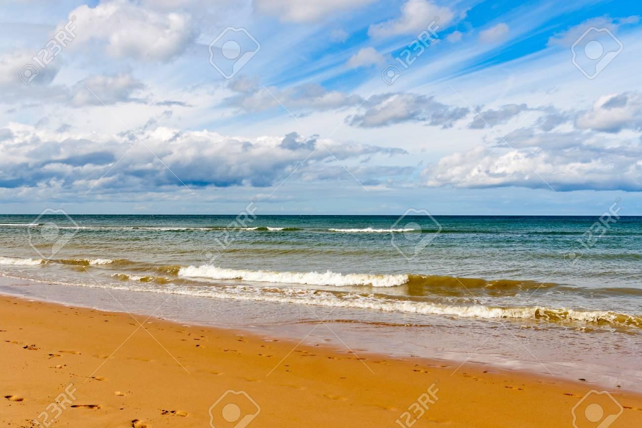 Omaha Beach Einem Der D Day Stränden Der Normandie Frankreich