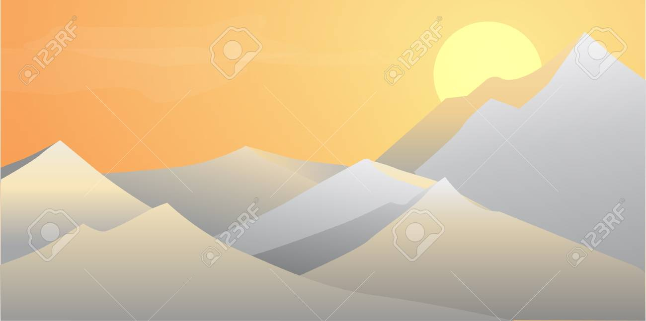 Dawn in the Mountains Stock Vector - 9106740