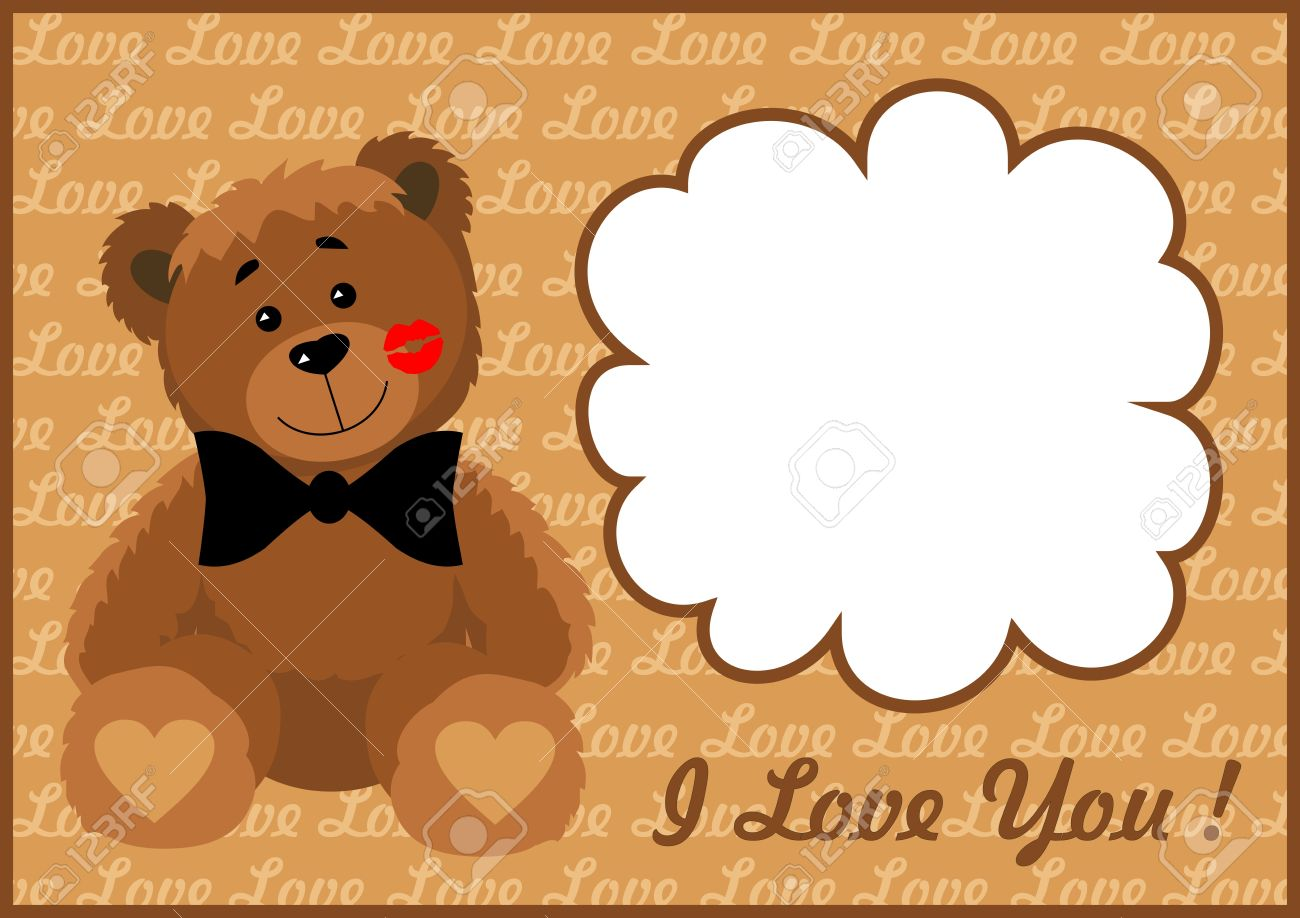Frame in love bear  Vector illustration  All the layers separately  Available for editing  Increase to any size without loss of quality Stock Vector - 16852378