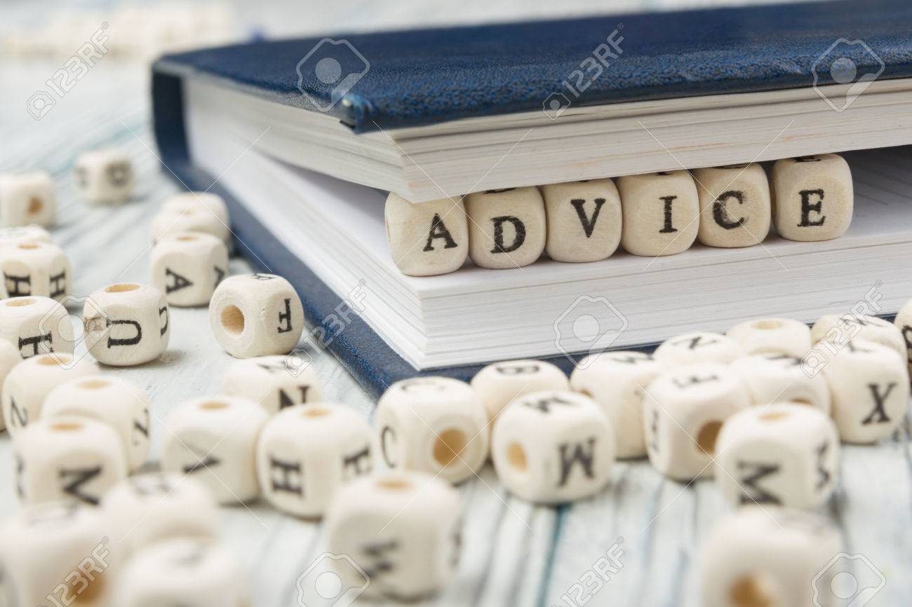 Wooden Blocks with the text Advice. Wooden ABC - 51105944