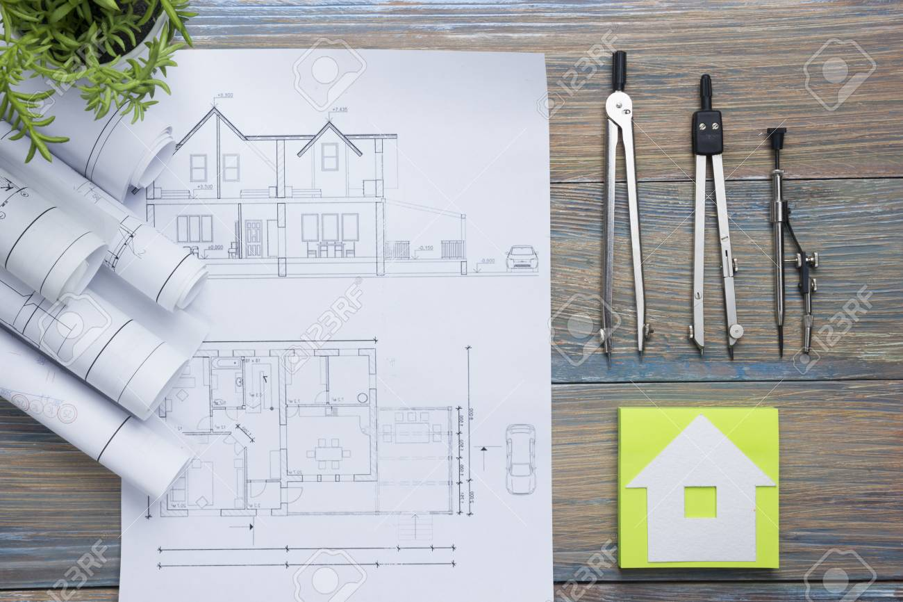 real estate concept architectural project blueprints blueprint