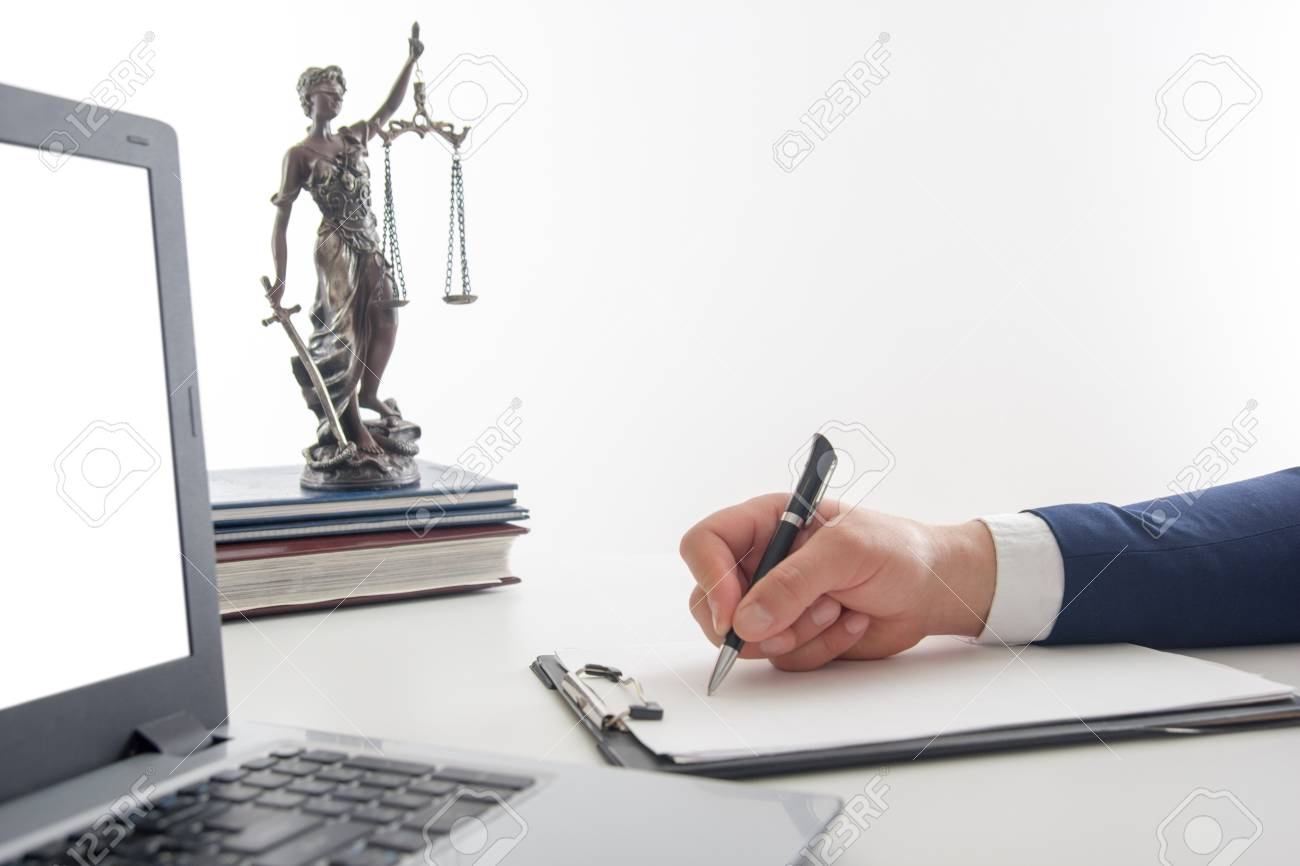 Law, advice and Legal services concept. Lawyer and attorney having team meeting at law firm. - 96256018
