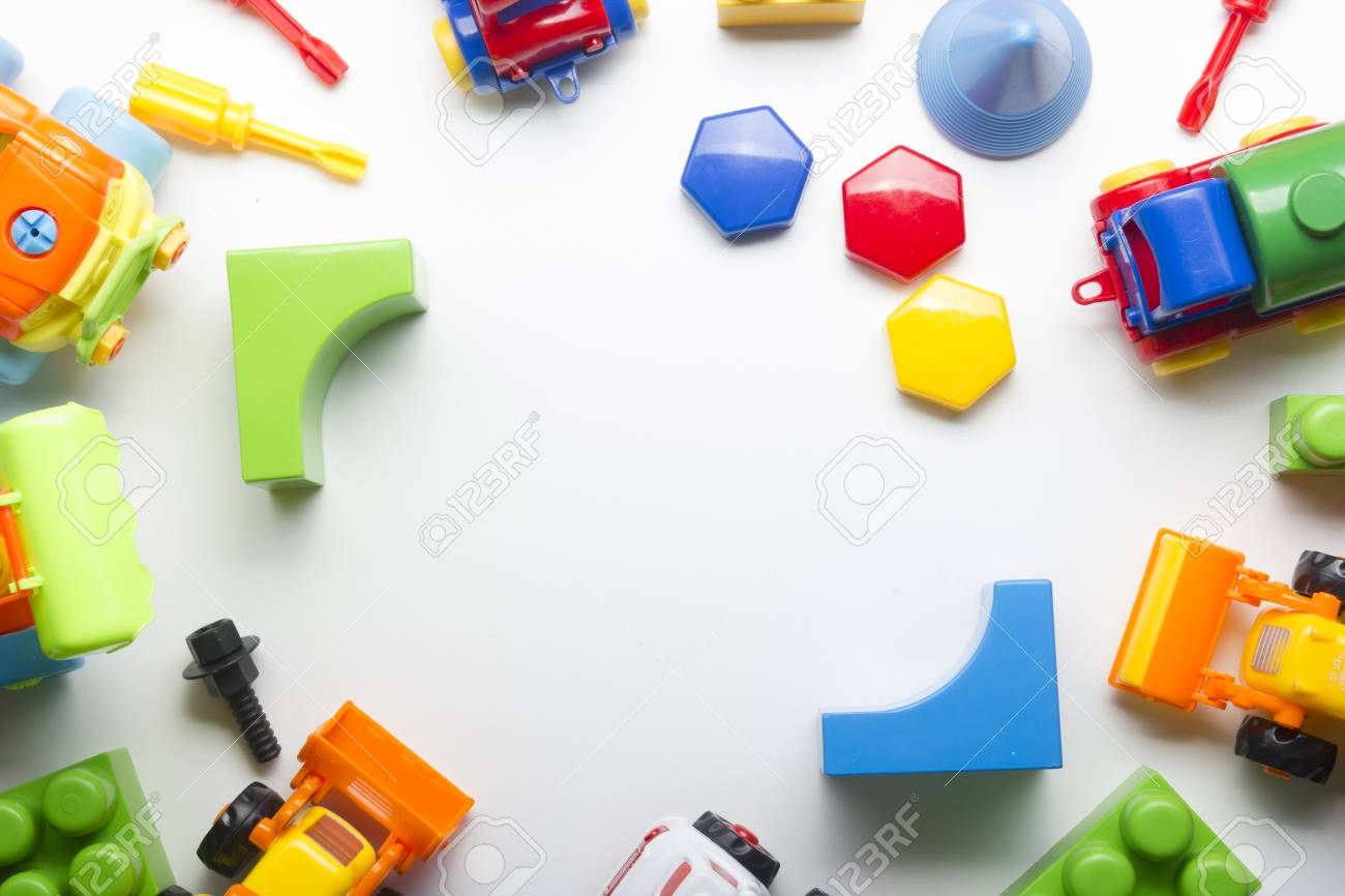 Kids Educational Developing Toys Frame On White Background Top Stock Photo Picture And Royalty Free Image Image 96250032