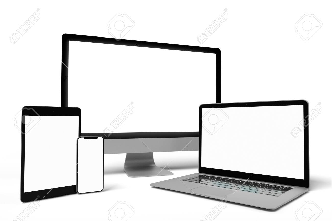 View of a Mock up of device - 3d rendering - 139280805