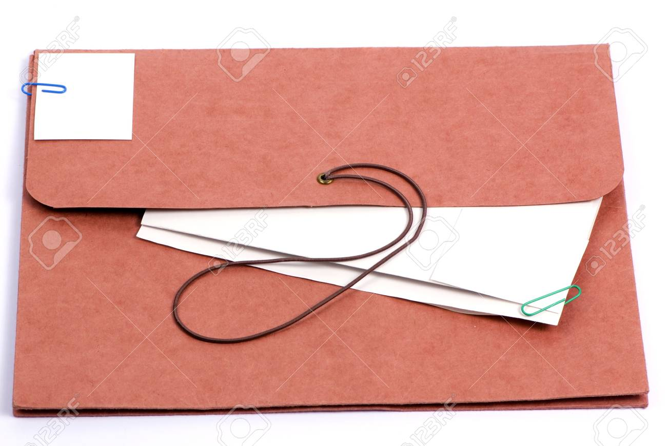 A brown folder for important confidential papers. put your picture here. Stock Photo - 760961