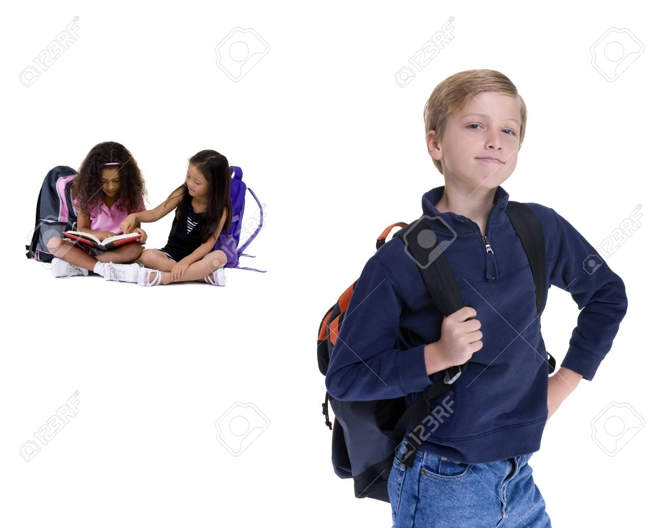 Young kids are ready for school. Education, , learning Stock Photo - 3475330