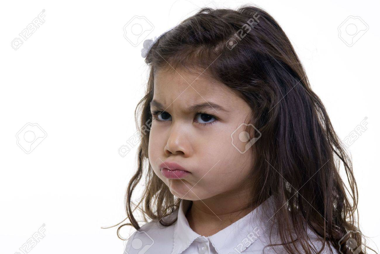 A young girl is pouting about something. Stock Photo - 3523356