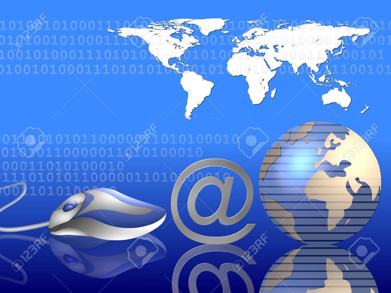 internet - communication background 2 Stock Photo - 4532334