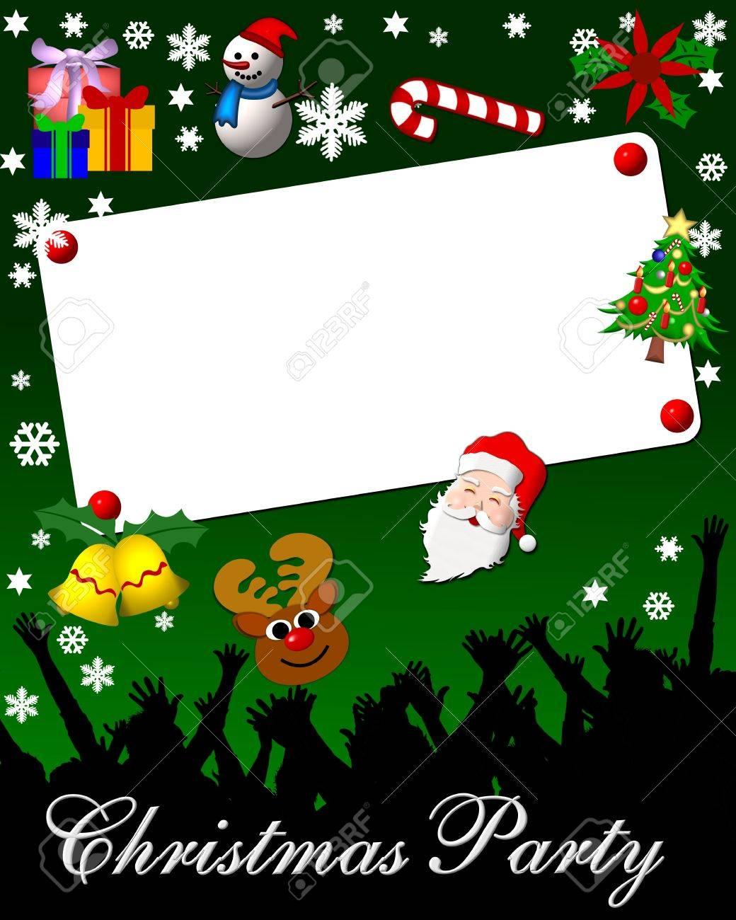 Weihnachtsfeier Plakat.Stock Photo