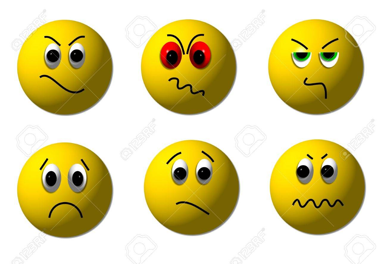 angry smileys Stock Photo - 4583688