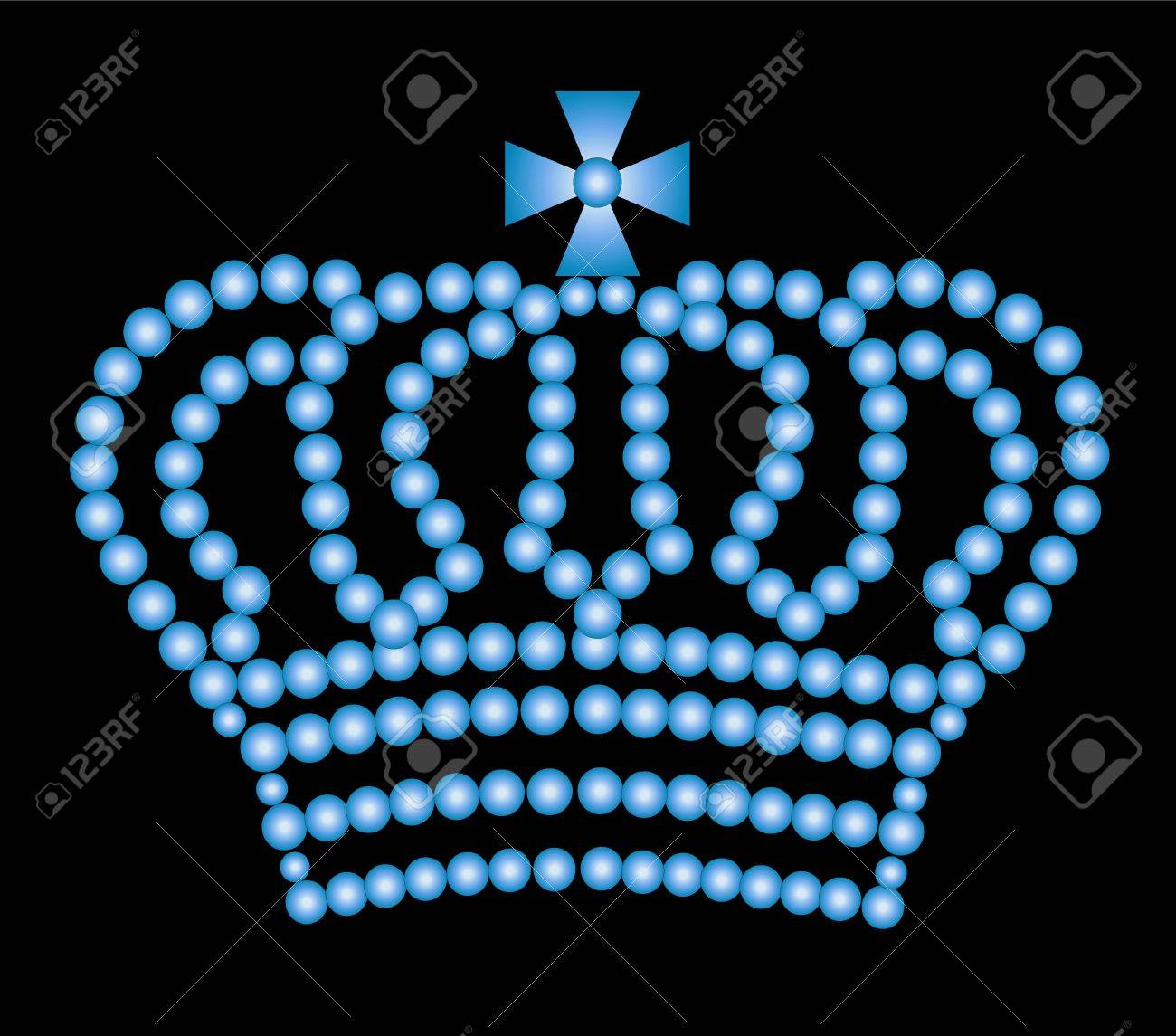 illustration of a crown on black background Stock Illustration - 5207235