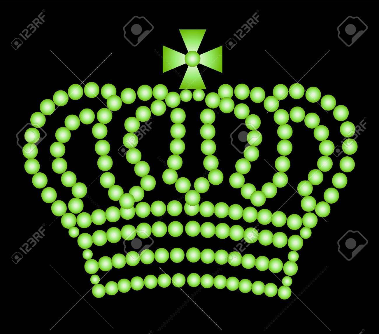illustration of a crown on black background Stock Illustration - 5231701