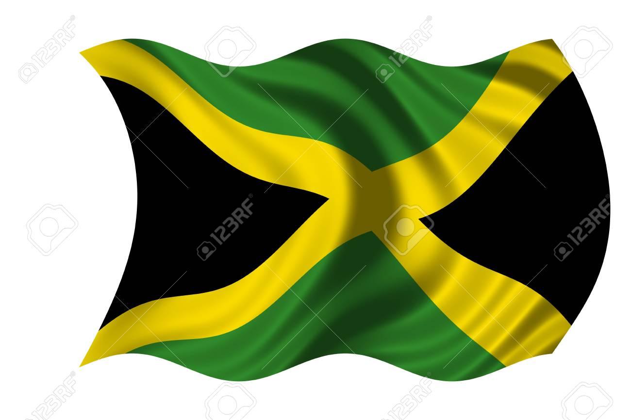 Waving flag Jamaica Stock Photo - 6167426