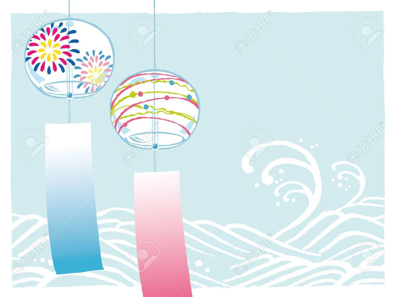 風鈴のイラスト素材 ベクタ Image