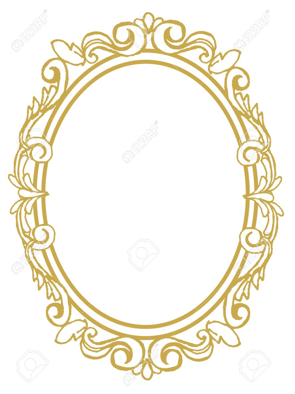 Golden Frame With Ornaments In Gold For Pictures Or Mirror Royalty Free Cliparts Vectors And Stock Illustration Image 63387108