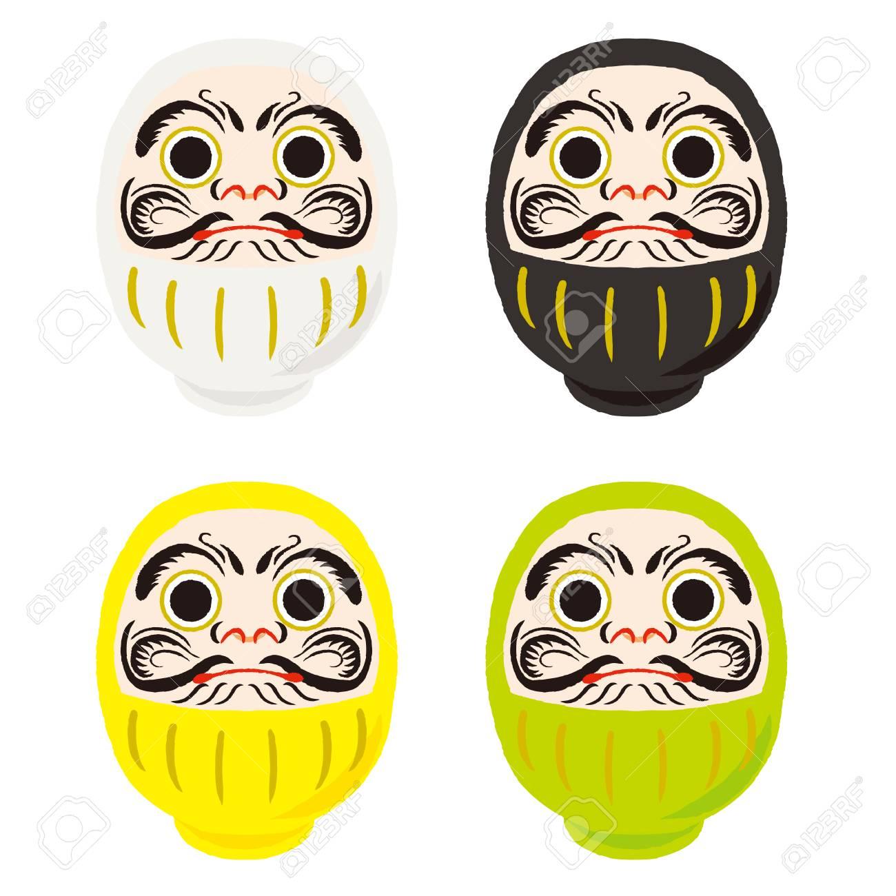 だるま日本の伝統的な人形ですベクトル イラストと日本語訳が渡す