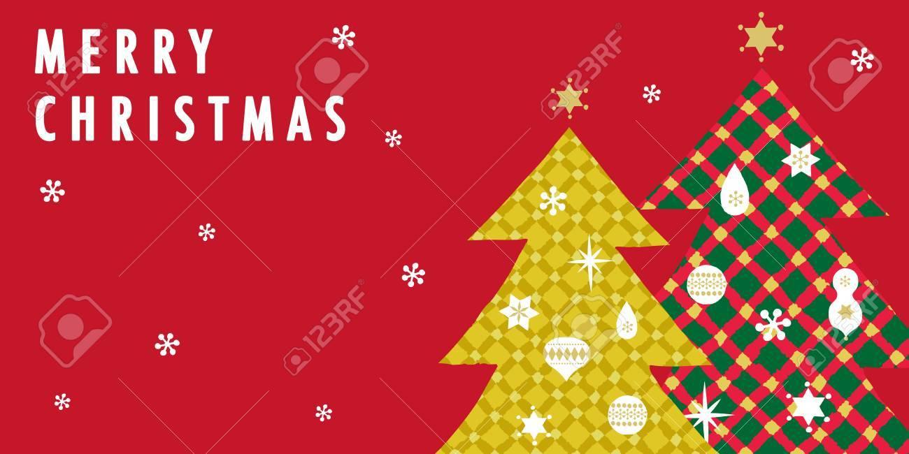 Tartan Christmas tree Vector illustration. - 86315892