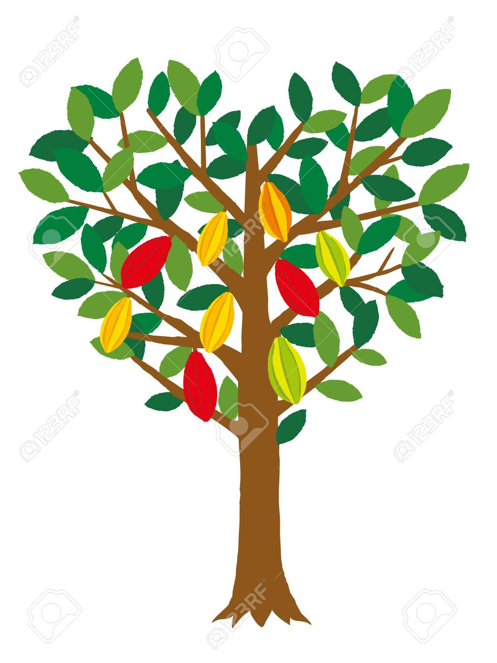 Heart Shaped Cacao Tree Royalty Free Cliparts Vectors And Stock Illustration Image 93215892