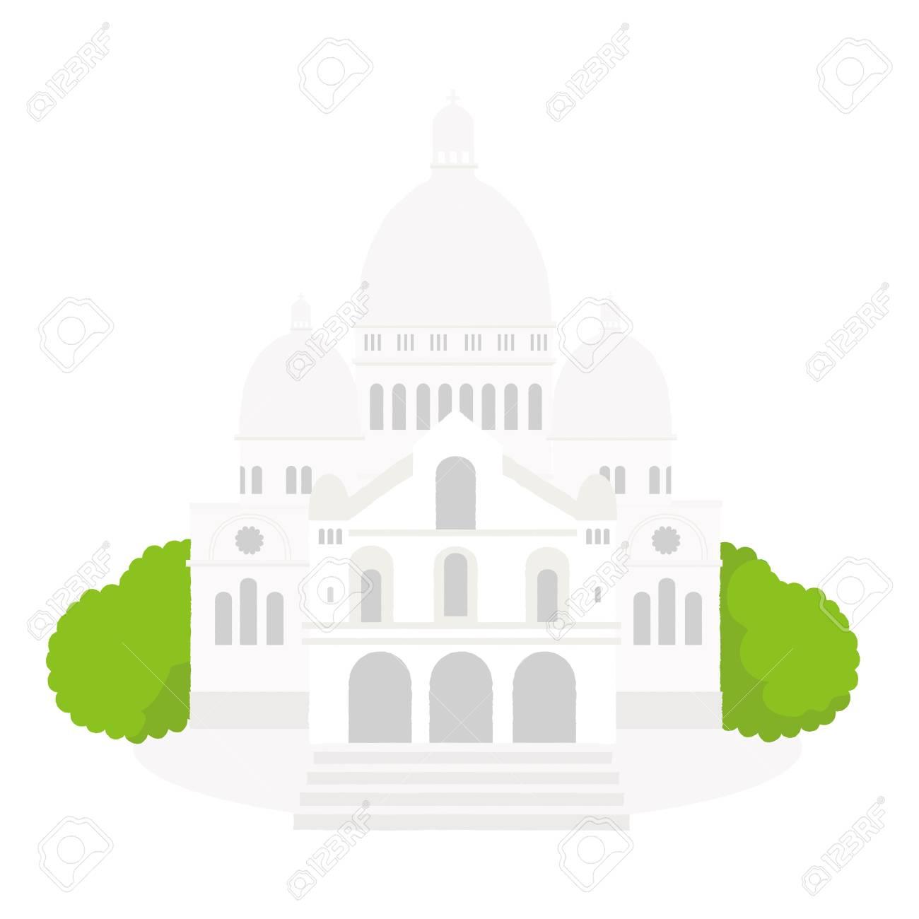 The sacred basilica Sacre Coeur in France. Famous symbol of Paris - 102635309