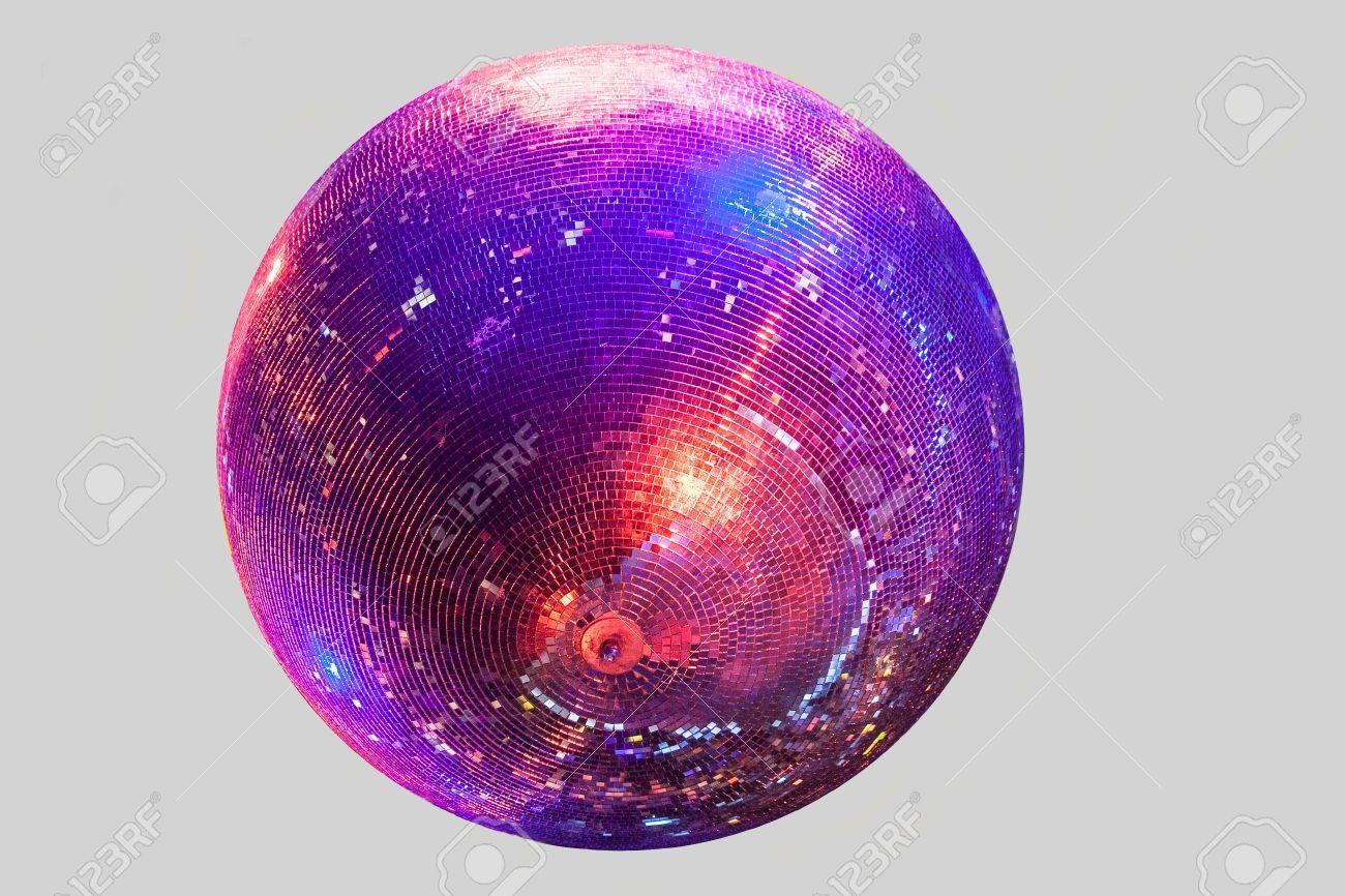 Discoball on gray background blue anred shine - 56195534