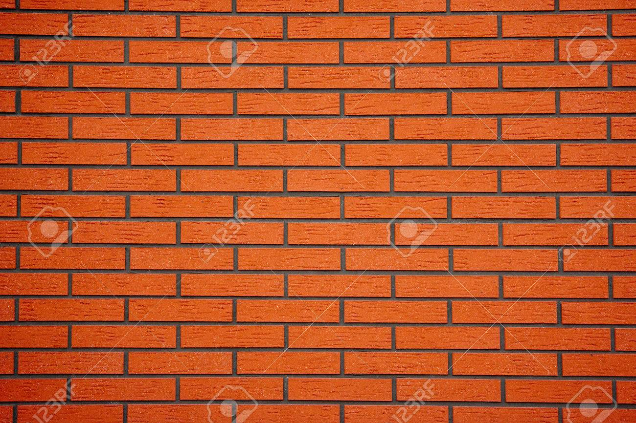 brick wall built of bricks of new - 58442477