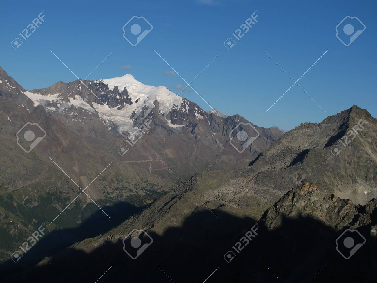 Piz D Andolla In The Evening Stock Photo - 15193651