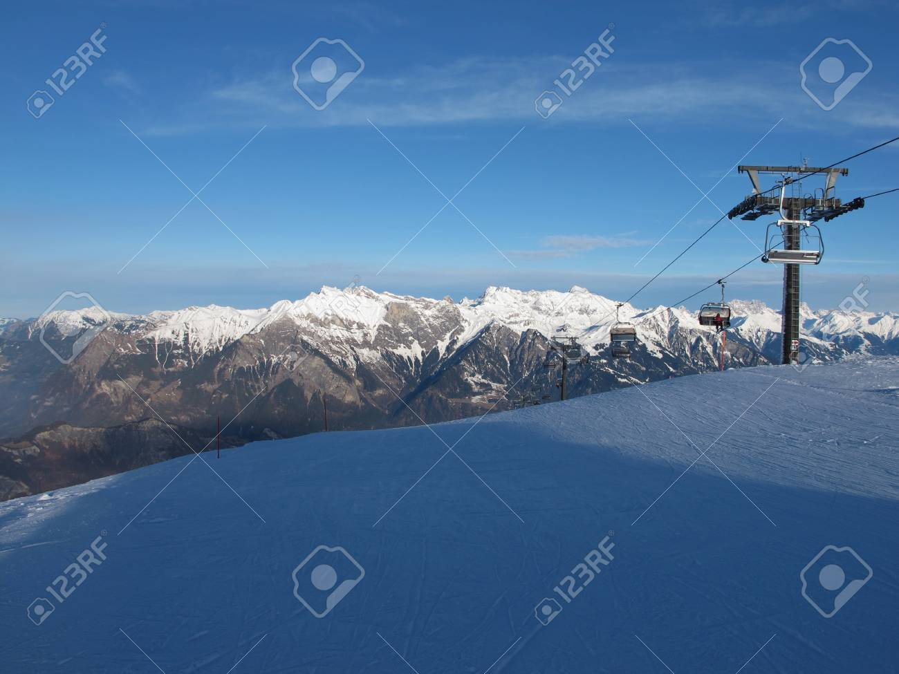 Chair Lift In The Pizol Region Stock Photo - 17222327