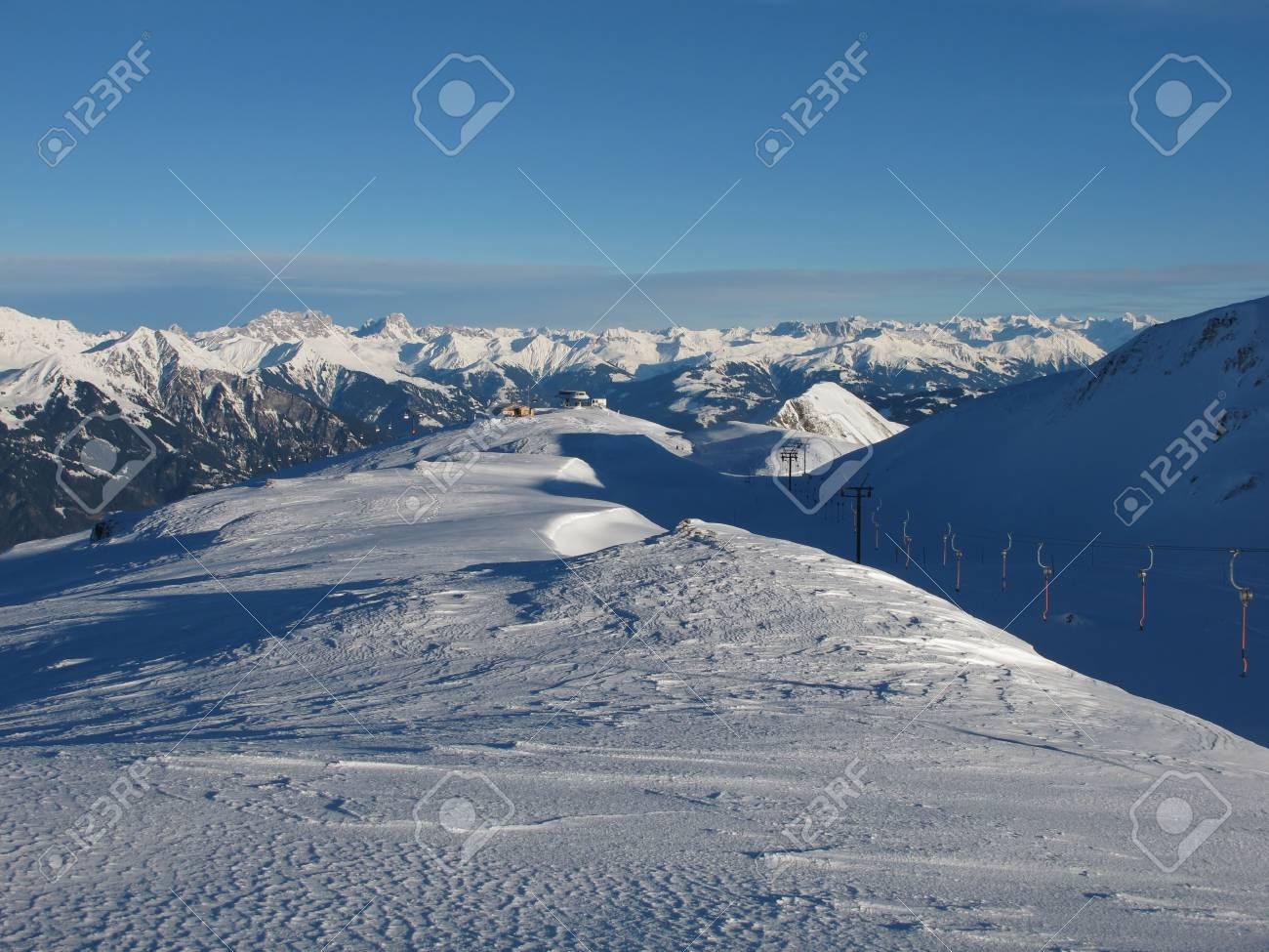 Ski Lift Of The Pizol Region, Beautiful Panorama Stock Photo - 17222345