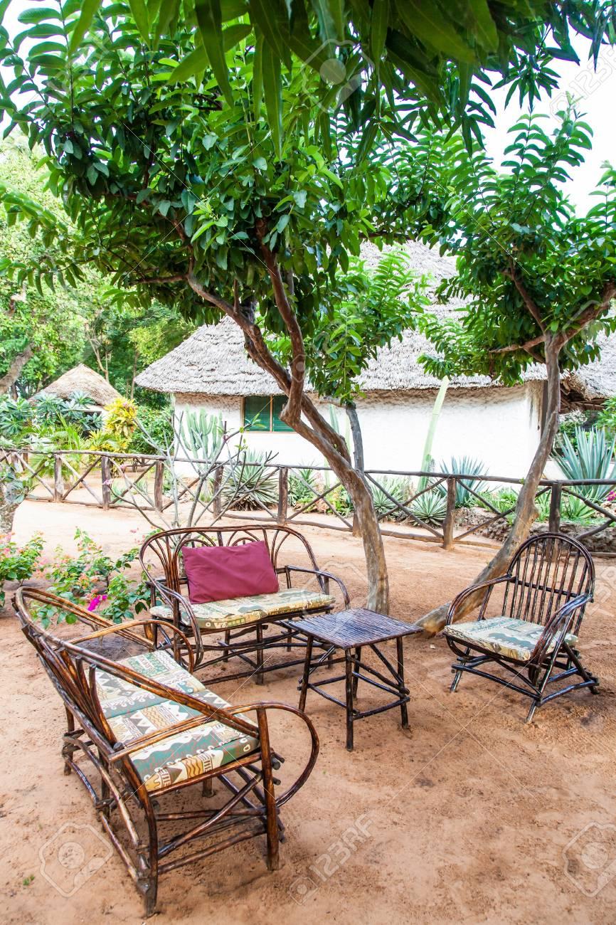 African Garden Furniture Kenya elegant furniture made of wood in an african garden stock elegant furniture made of wood in an african garden stock photo 20233032 workwithnaturefo