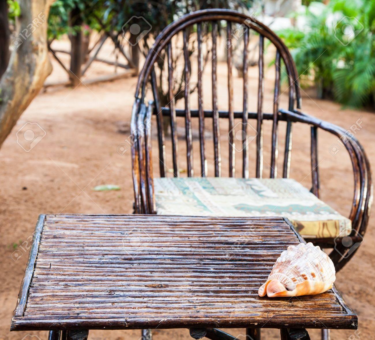 African Garden Furniture Kenya elegant furniture made of wood in an african garden stock elegant furniture made of wood in an african garden stock photo 20612623 workwithnaturefo