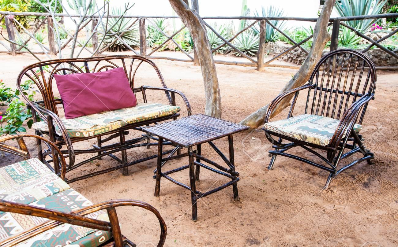 African Garden Furniture Kenya elegant furniture made of wood in an african garden stock elegant furniture made of wood in an african garden stock photo 28017741 workwithnaturefo